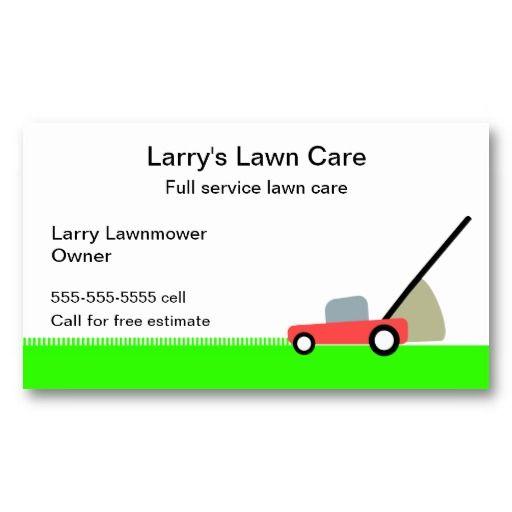 Lawn Care Service Business Card Zazzle Com Lawn Care Business Cards Lawn Care Services Business
