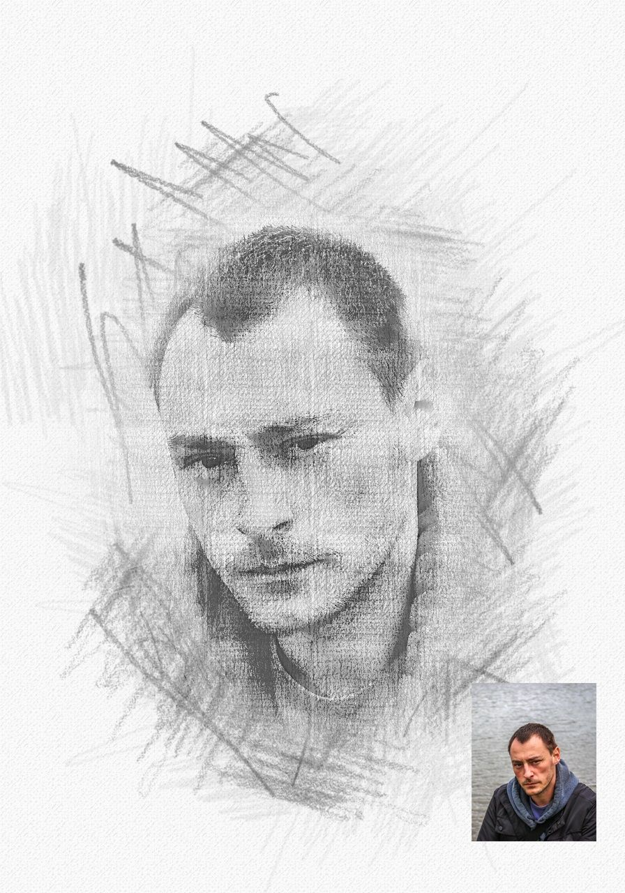 cb2741a77ac Pencil Sketch Photoshop Action  Sketch