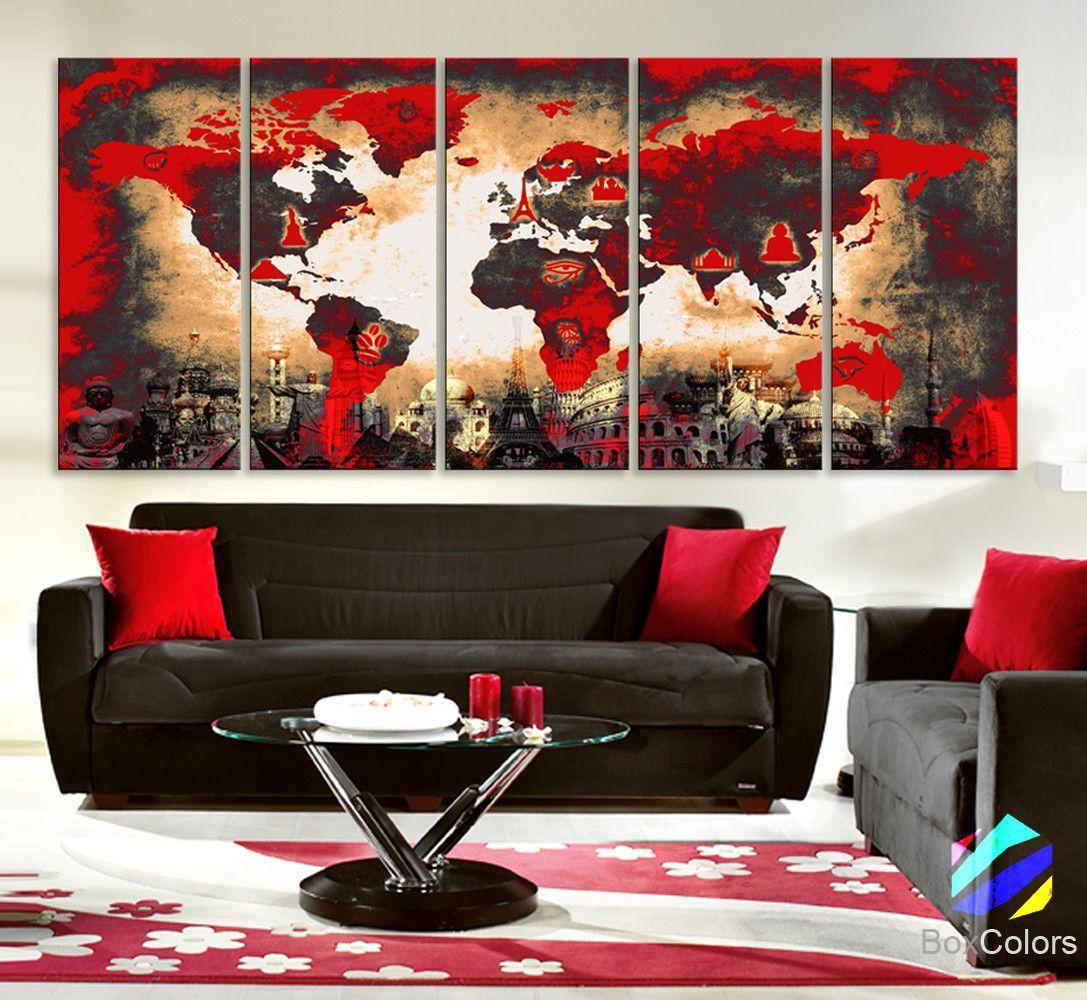 Xlarge 30x 70 5 Panels 30x14 Ea Art Canvas Print Original