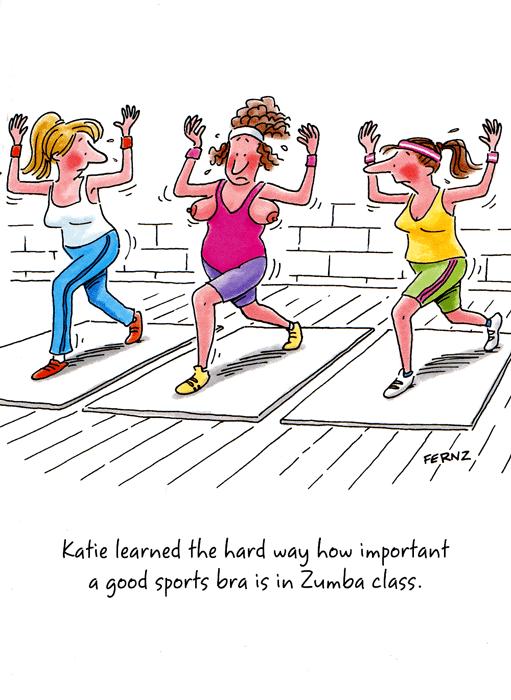 Birthday Card Sports Bra In Zumba Class – Birthday Cards for Her Funny
