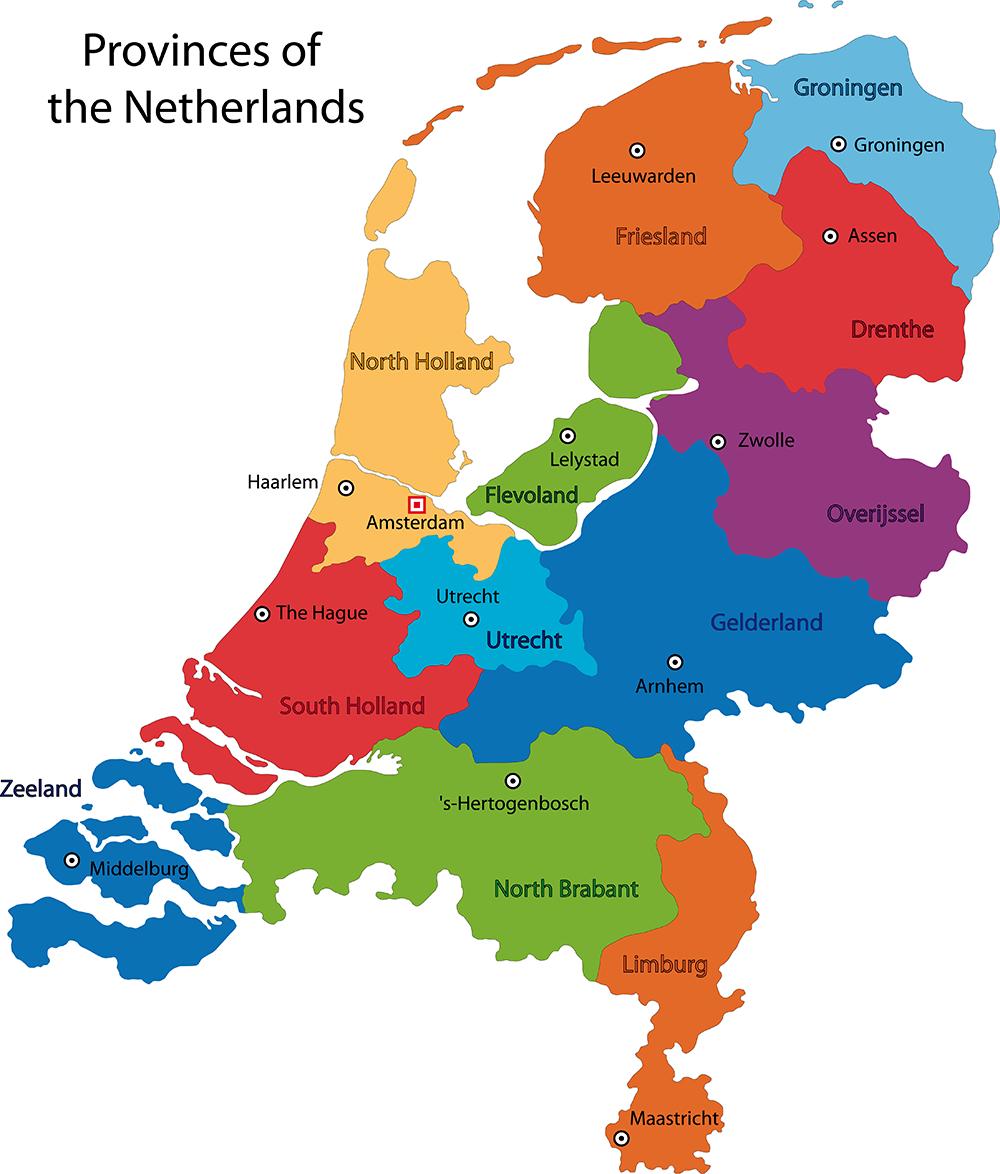 Map of the Netherlands NETHERLAND Pinterest