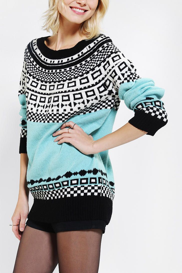 Cooperative Mod Fair Isle Sweater | Good Pieces | Pinterest | Fair ...