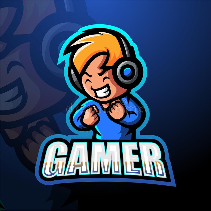 Gamer Boy Mascot Esport Logo Design Illustration Of Gamer Boy Mascot Esport Logo Design Royalty Free Illustration Art Logo Retro Logos Mascot Design