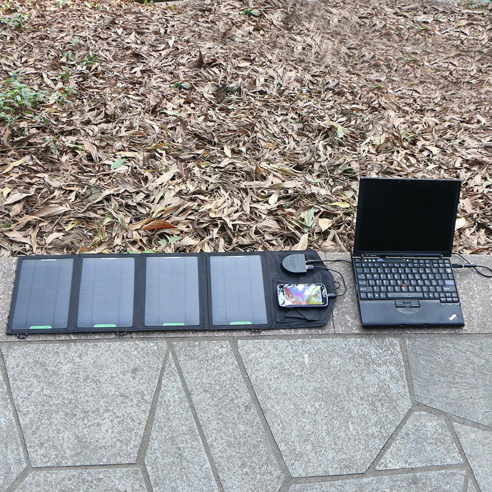 Allpowers 18v 14w portable solar panel battery charger