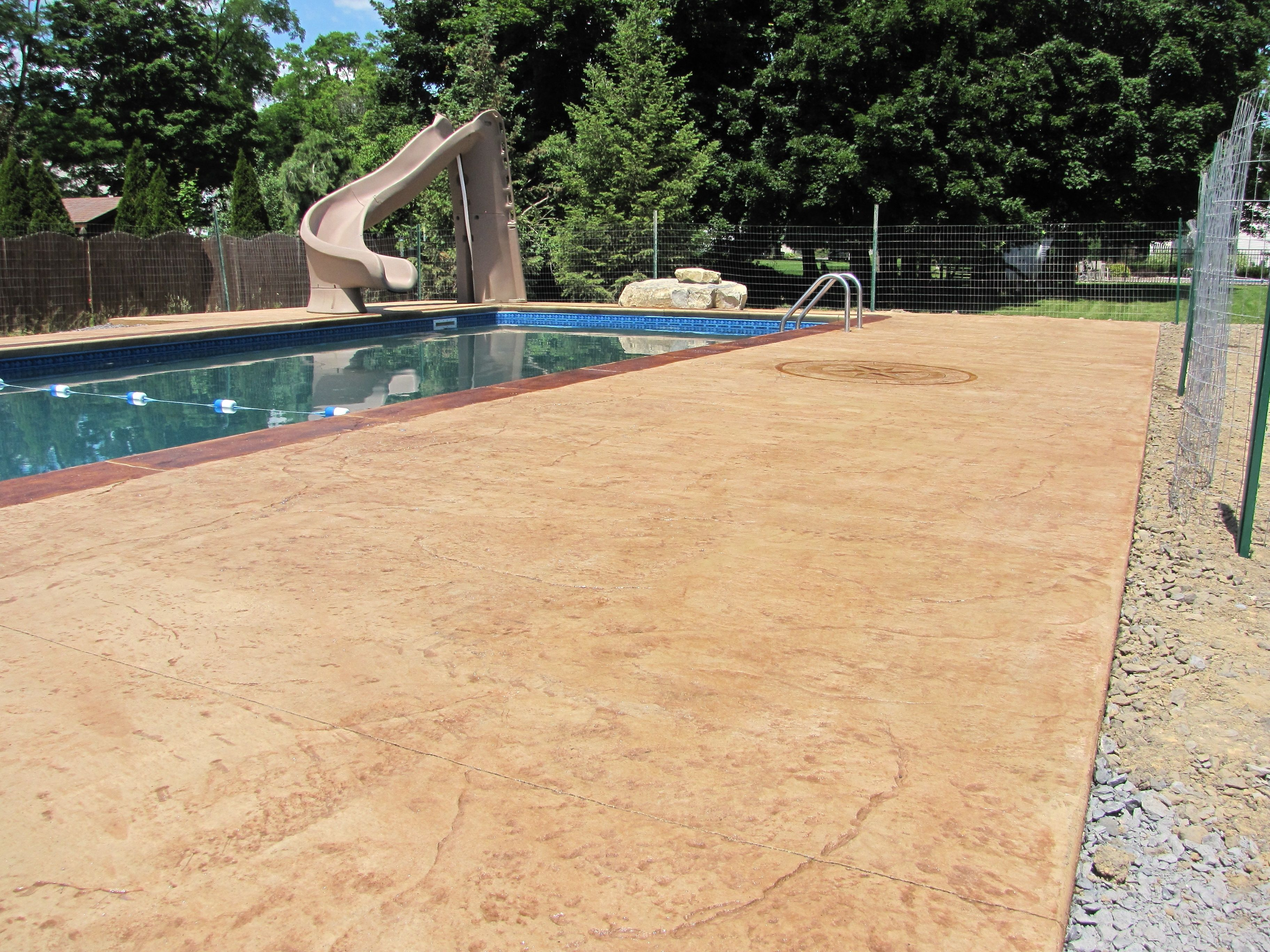 Exceptional Decorative Stamped Concrete Pool Decks Ny Evolution Stamped Concrete Inside  Stained Concrete Pool Deck Renovation.