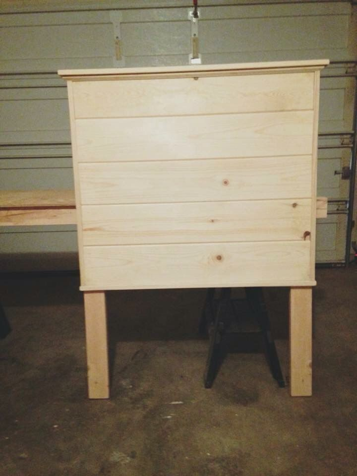 shiplap twin bed headboard