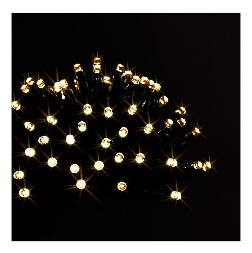 Feeric Christmas – Guirlande lumineuse dextérieur solaire 200 LED Blanc chaud sur 20 Mètres