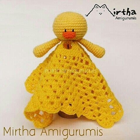Safety blanket /Mantita de apego www.facebook.com/MirthaAmigurumis ...