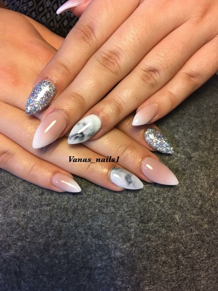 Marble Ombre Acrylic Nails Nailart Design Nails Nail Art Designs Ombre Acrylic Nails