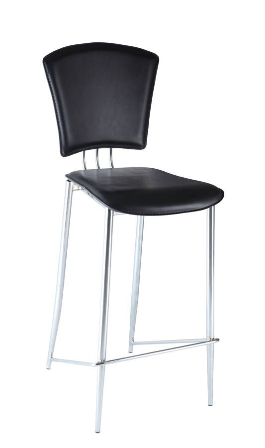 2 Tracy Contemporary Black Pvc Bar Height Stools Counter Height Stools Bar Height Stools Counter Stools