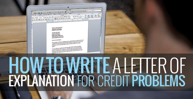 A letter of explanation is a 100-word letter that sits on file at - letter of credit