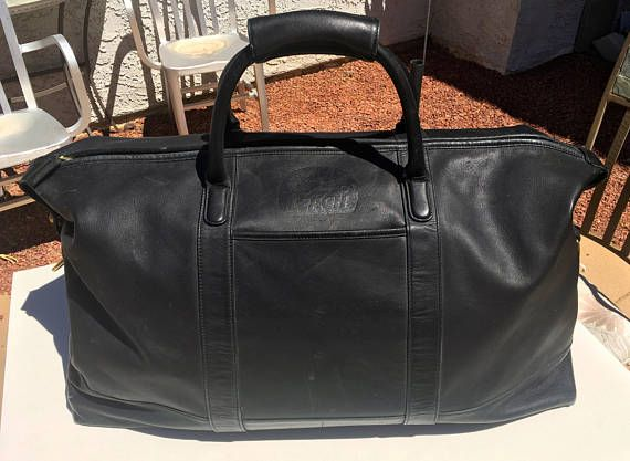 Vintage Coach Leather Duffle Bag Overnight Travel