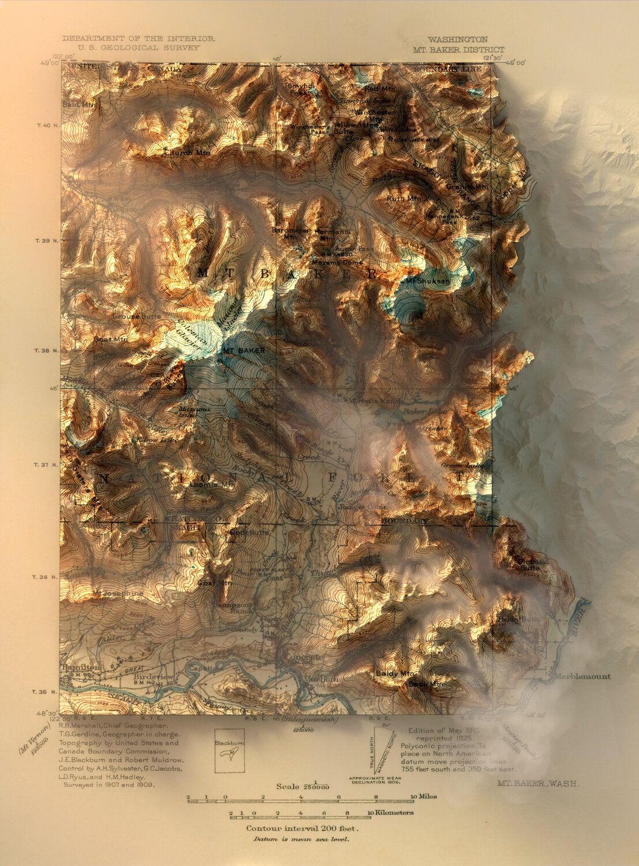 3d Rendered Topographic Maps Longitude In