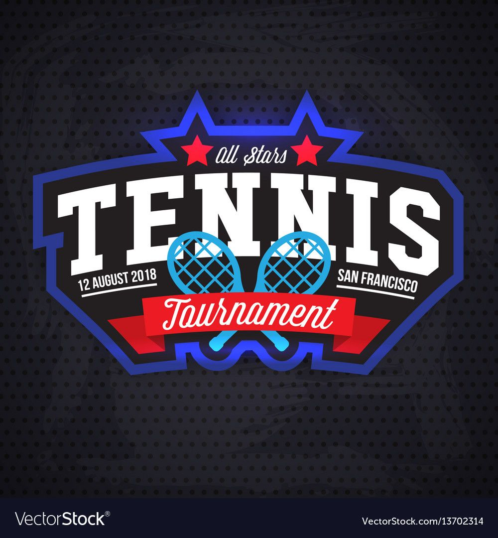 Tennis Logo Badge Design Templat Vector Image On Vectorstock Badge Design Badge Logo Tennis