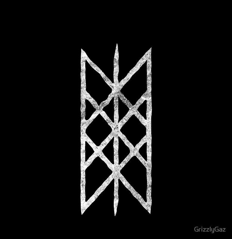 Web Of Wyrd White Rune Chiffon Top By Garyck Arntzen Viking Tattoos Runes Nordic Runes