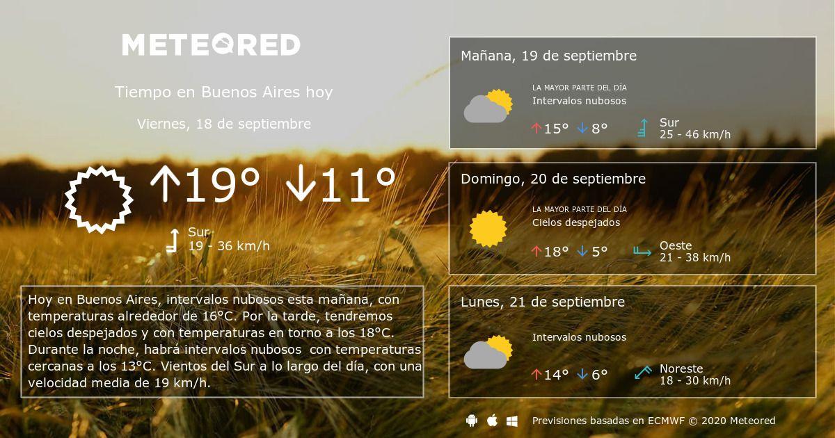 Tiempo En Buenos Aires 8 14 Días Meteored En 2020 Clima Pronóstico Del Tiempo Santiago De Chile