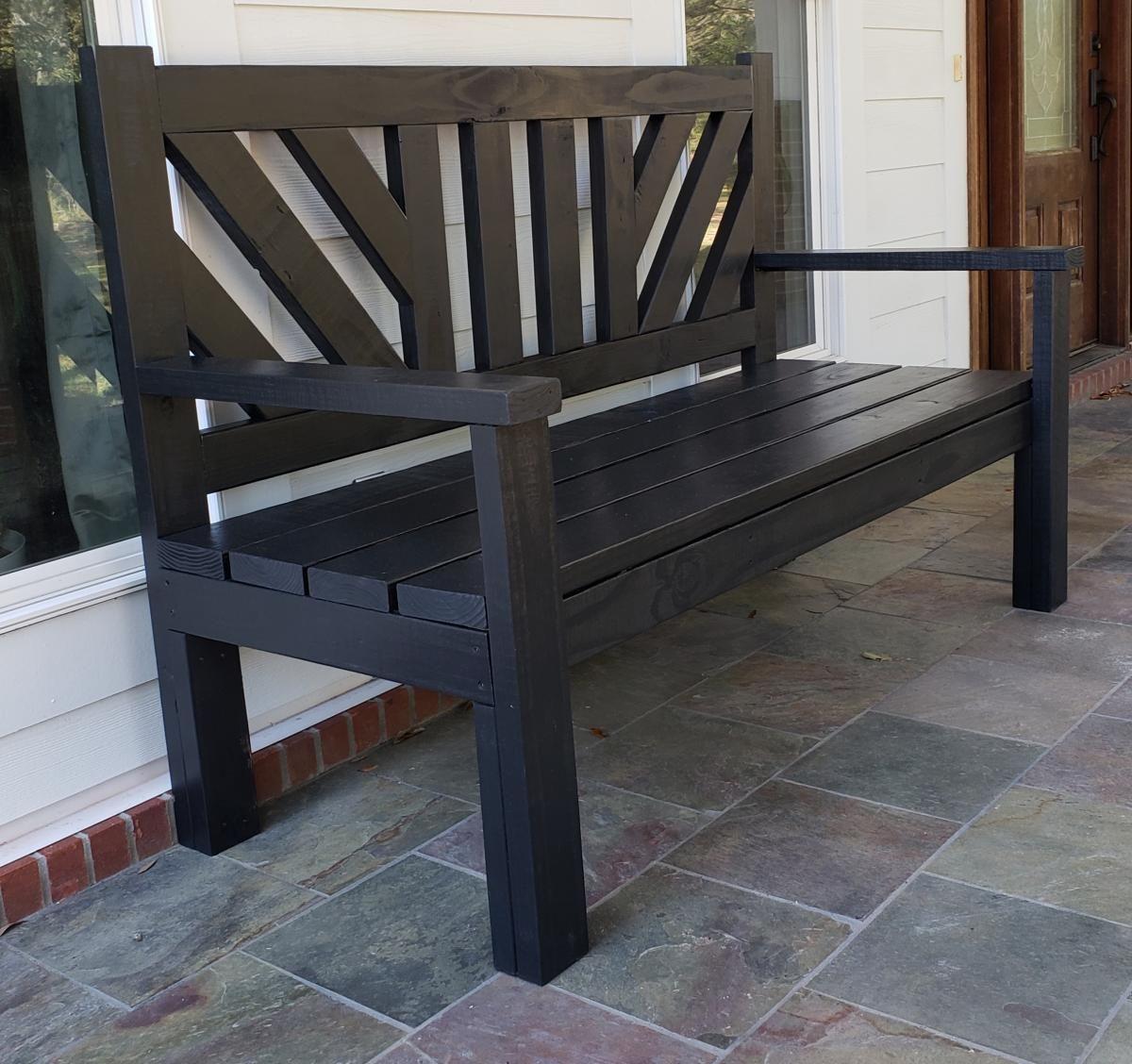 Large Porch Bench Modern Farmhouse Diy Bench Outdoor Wood Bench Outdoor Porch Furniture