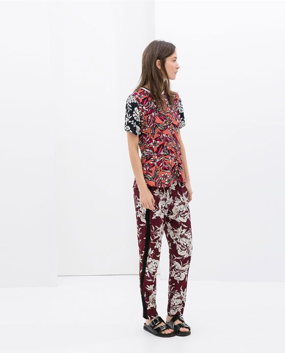 ZARA - WOMAN - COMBINATION PRINTED TROUSERS// £39.99