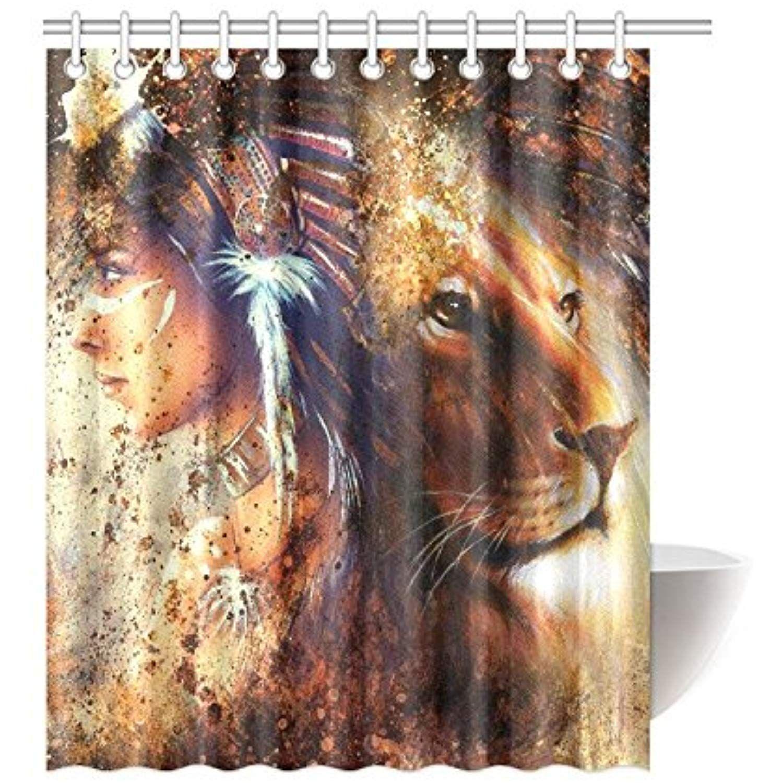 Interestprint Lion King Home Decor African American Woman