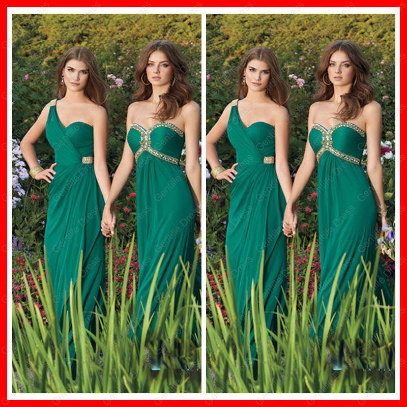 Vestidos damas de honor verde