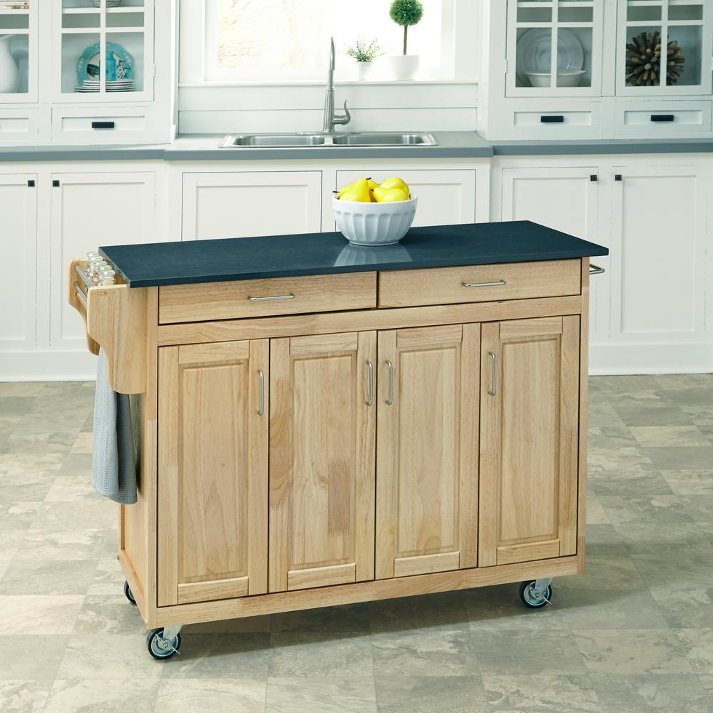 HOMESTYLES Create-a-Cart Natural Kitchen Cart | White ...