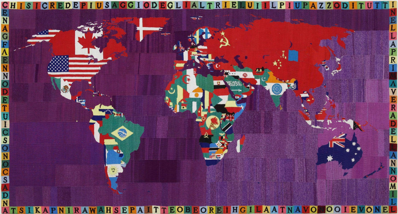 Worksheet. Alighiero Boetti  Mapa del mundo Map of the World 1990