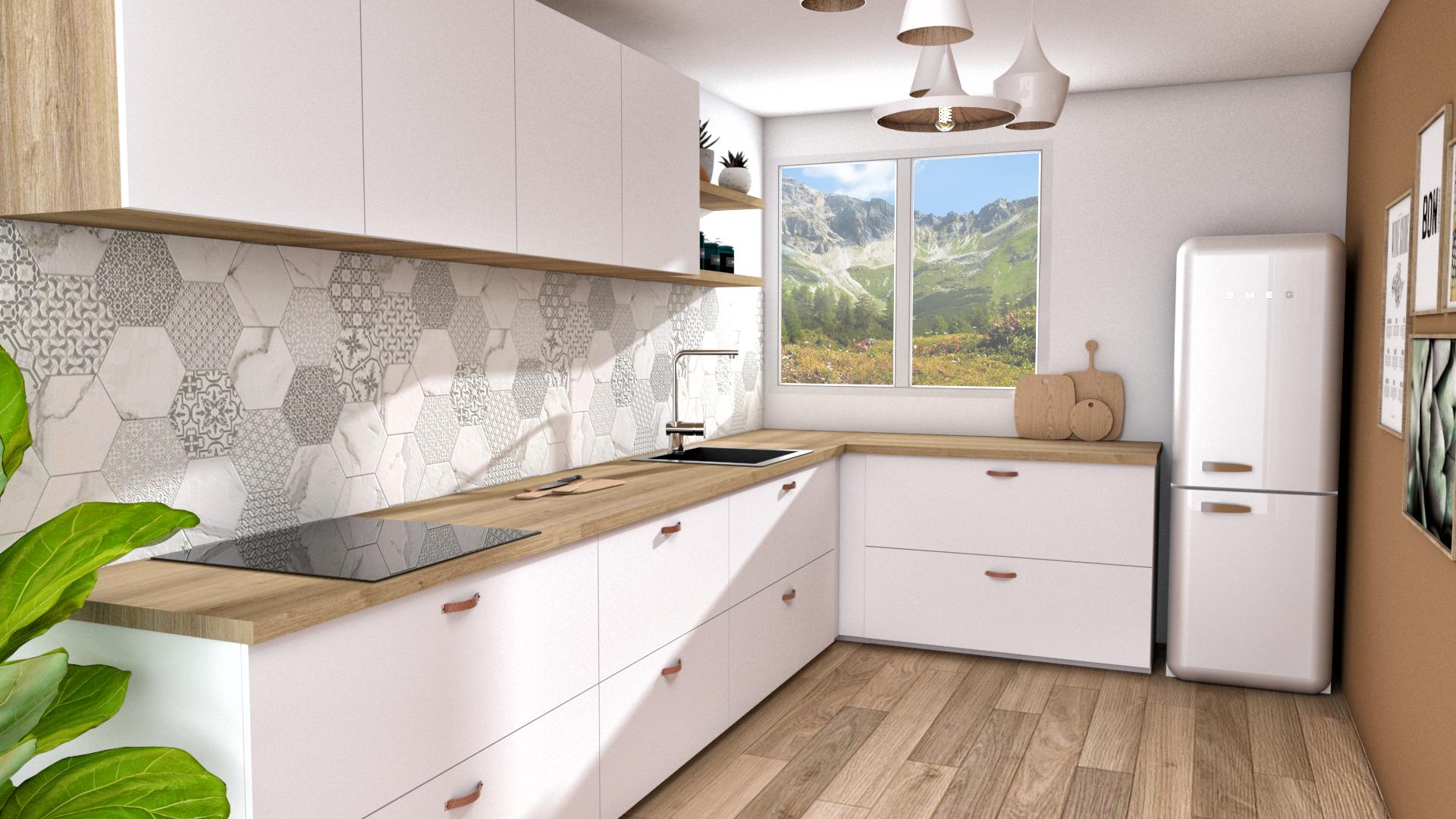 Cuisine Scandinave Blanc Et Bois cuisine scandinave blanche et bois clair. #cuisine