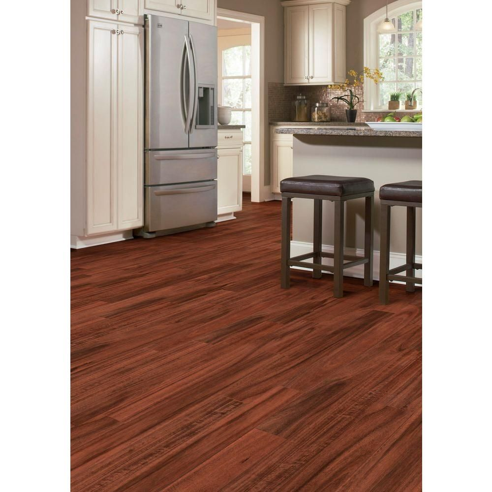 Home Legend Hand Scraped Teak Amber Acacia 3 8 In T X 4 3 4 In W X Varying Length Click Lock Hardwood Flooring 24 94 Sq Ft Case Hl157h The Home Depot Hardwood Floors Hardwood Engineered Hardwood