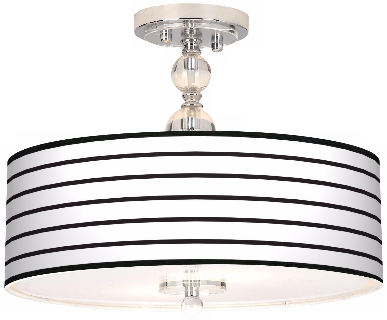 Black Parallels On White Art Shade Ceiling Light - # ...
