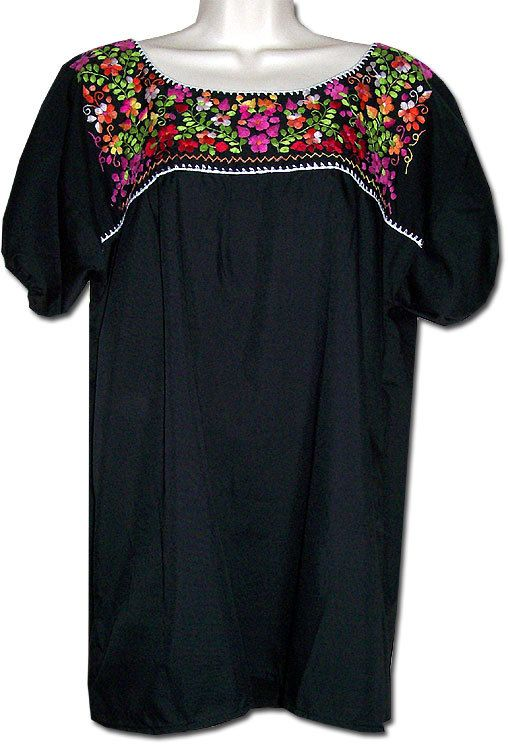 28b8ccc5ef69d We have lots of new Mexican blouses in stock from small to 4X.