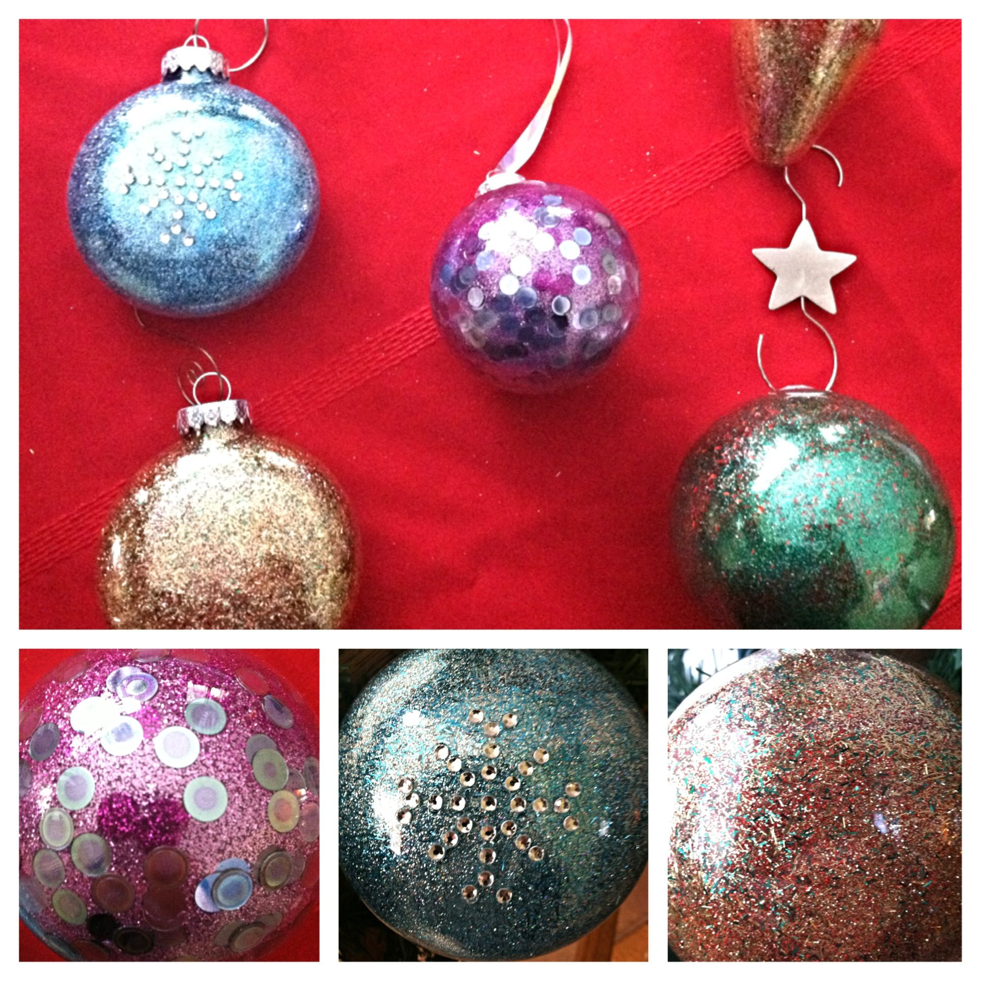 Glitter christmas ornaments crafts pinterest for Ornament ideas