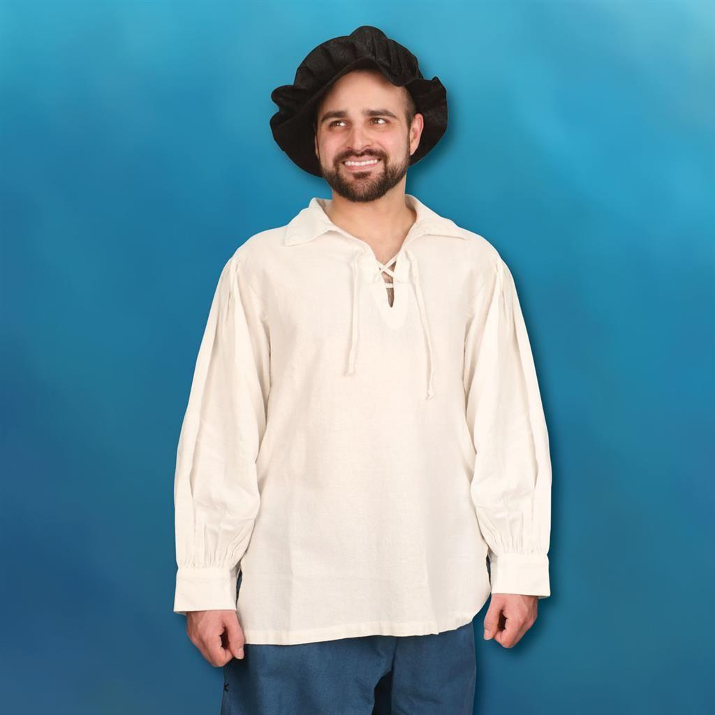 Hand-Woven Hand-Stitched Men's Renaissance Shirt
