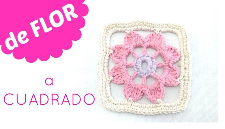 Como convertir una flora de crochet en cuadrado Image | Granny ...