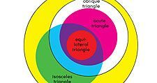 a venn diagram represents the sets and subsets of different types of triangles for example