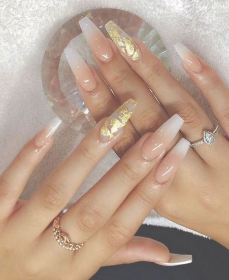 71 Getting Smart With Pretty Nails Acrylic Coffin Long 117 Gold Nails Gorgeous Nails Long Nails