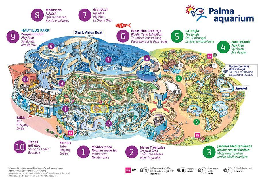 Map Palma Aquarium Parques Exposiciones