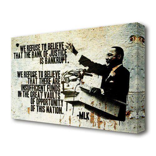 Leinwandbild Zitat von Martin Luther King in Grau East Urban Home Größe: 81,3 cm H x 121,9 cm B