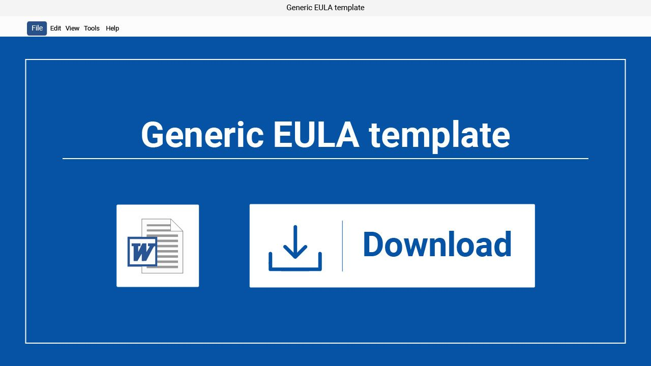 Sample Eula Template