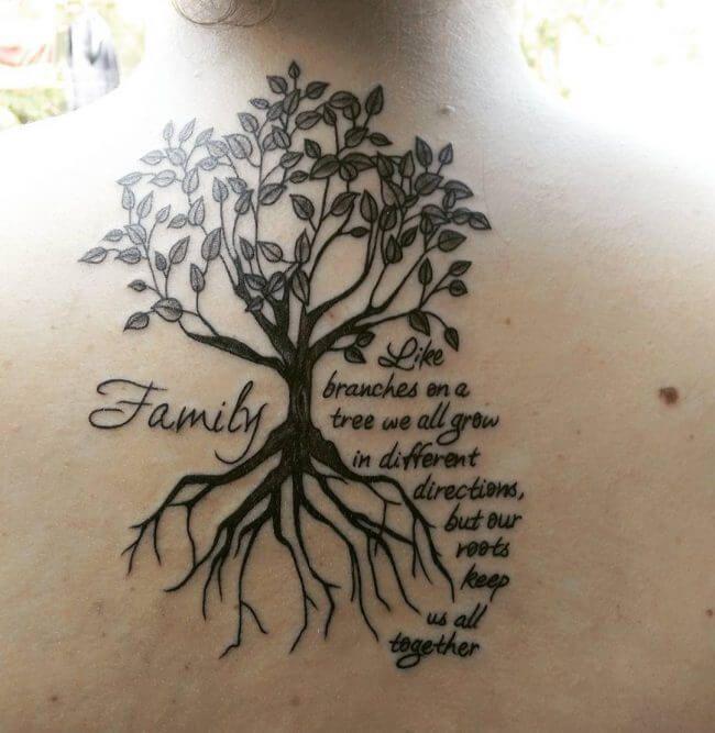 Family Tree Tattoos For Men