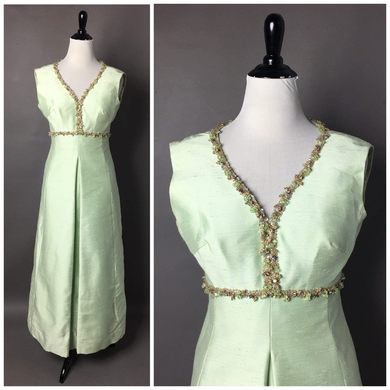 Vintage 70s Dress 1970s Dress Green Dress Cocktail Dress Etsy Maxi Dress Cocktail Vintage Dress 70s Hostess Dresses [ 3000 x 3000 Pixel ]