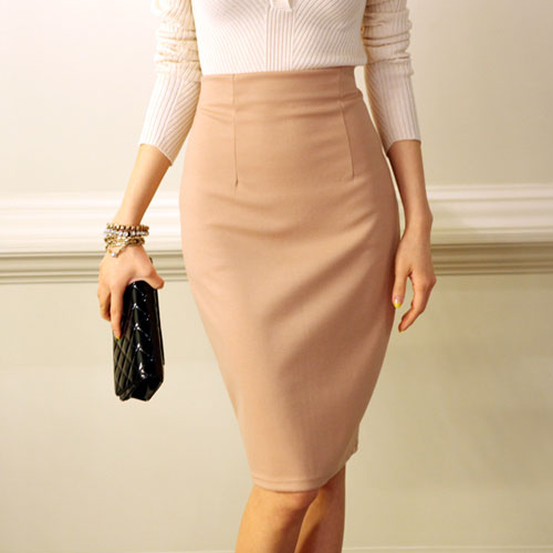 Secret2Girls] Zippered Pencil Cut Skirt | Women's Fashion ...