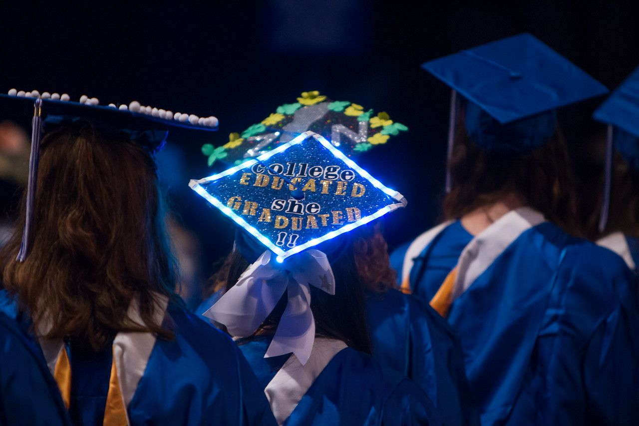 ub grad cap art college educated she graduated ubuffalo commencement 2017