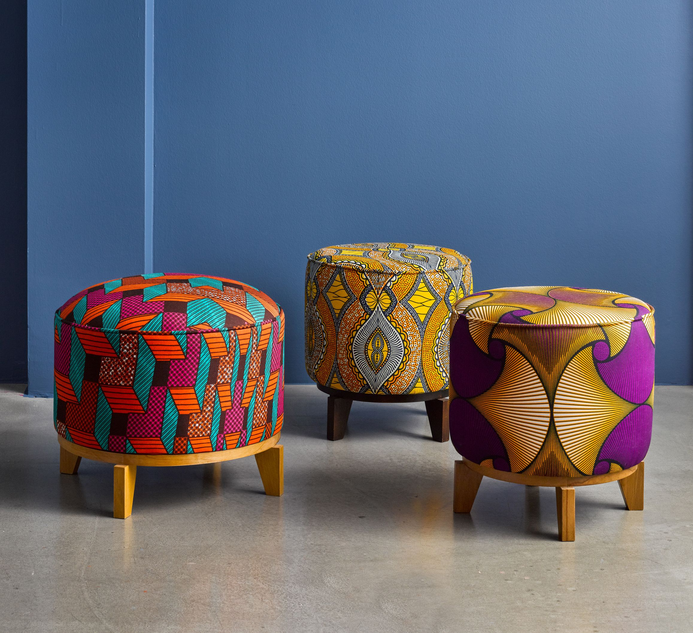 Our Range Of Footstools And Pouffes All Available In Custom
