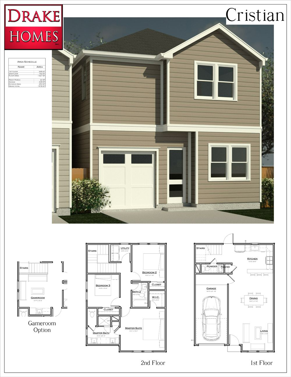 Cristian Floorplan Oaks Of Lawndale By Drake Homes Inc Houston Texas Floor Plans Home Inc House Plans