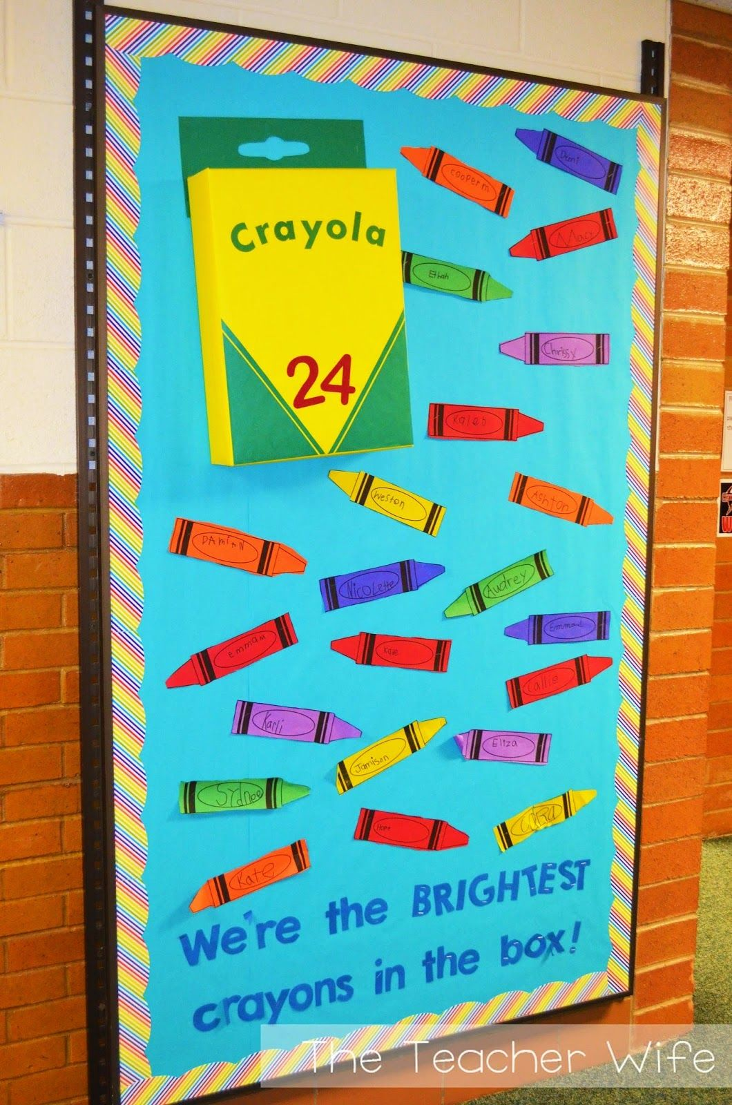 door decor we re the brightest crayons in the box back to school