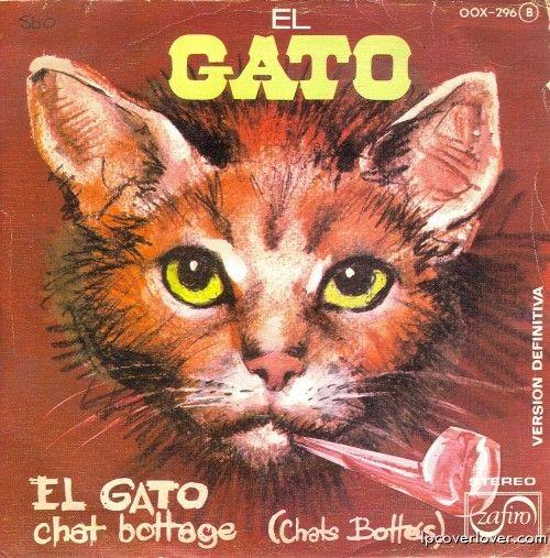 """Source: LP Cover Lover.    """"El Gato,"""" Zafiro Records (Spain)."""