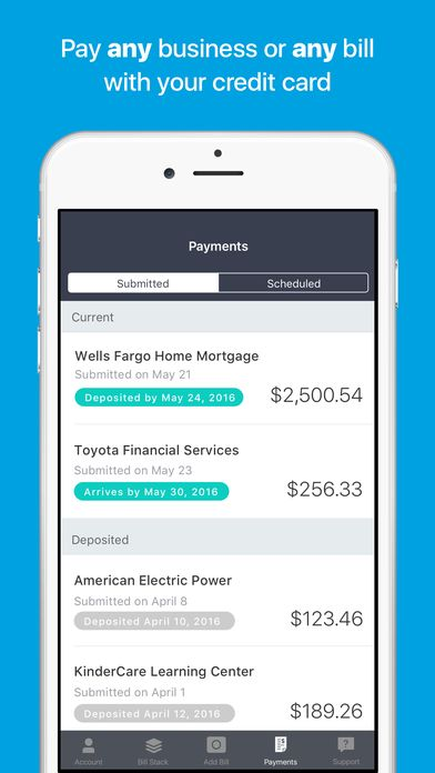 Plastiq Pay bill with a photo on the App Store App