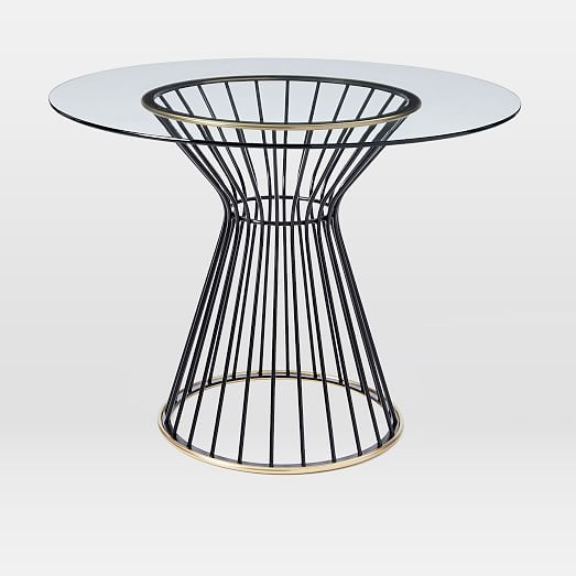 i'm a little obsessed with this dining table. hourglass dining, Esszimmer dekoo