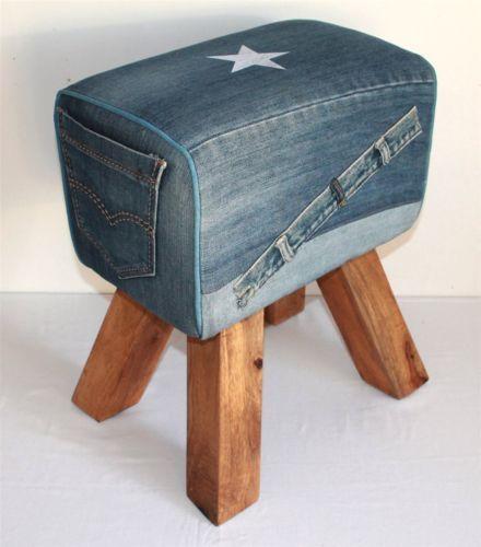 02-Sitzhocker-Stoff-Jeans-Holz-Hocker-Sitzwuerfel-45x30x30-cm-Fusshocker