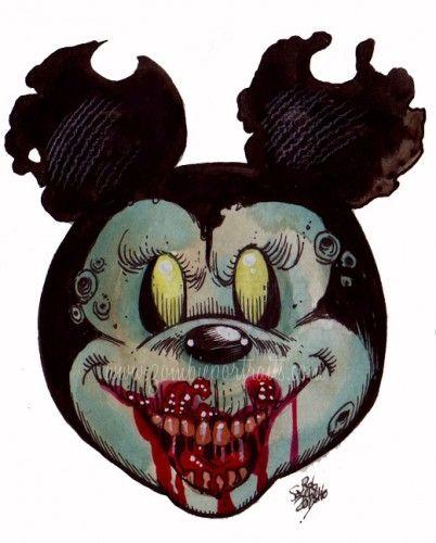 c96703e344d4 mickey mouse zombie head